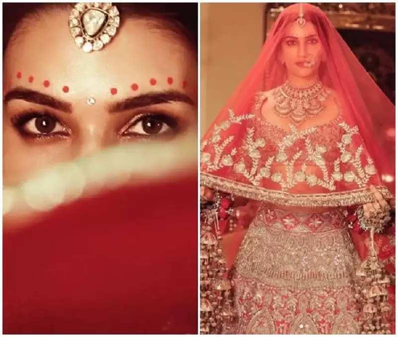 Bridal dress, long veils in hand, Kriti Sanon dressed like this for Manish Malhotra's 'Nooraniat'