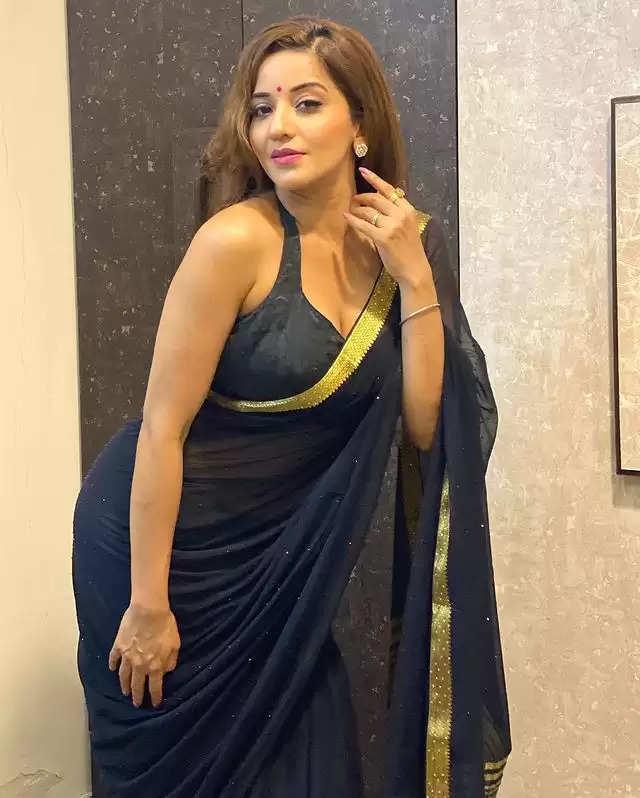 SAREE LOOK: Monalisa flaunts her beautiful style in a black sari!