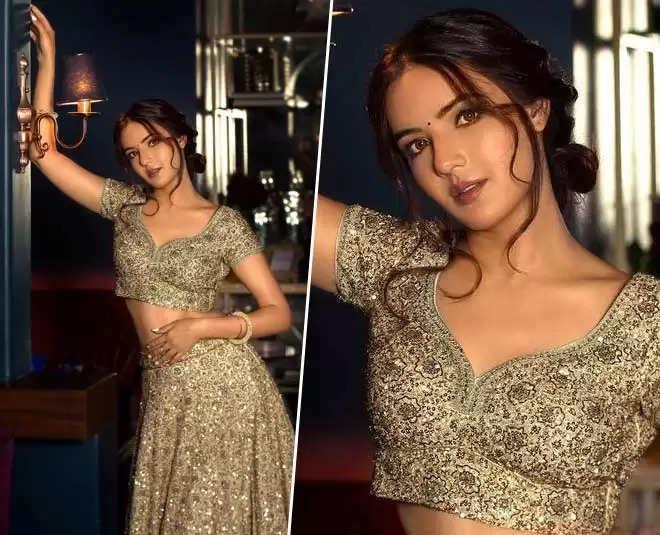 Fashion Tips:-Take fashion inspiration from actress Jasmine, flaunt a beautiful lehenga like her
